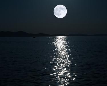 Canoagem em Noite de Lua Cheia