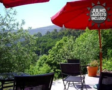 1 ou 2 Noites de Verão com Jantar e Vista Serra da Lousã | Casa de Xisto
