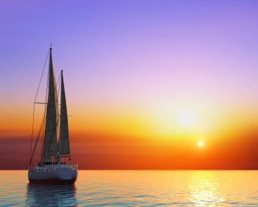 Barco à Vela para 2 ao Pôr-do-Sol