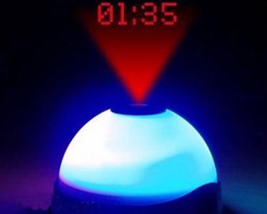 Relógio Despertador com Luz Led e Projetor