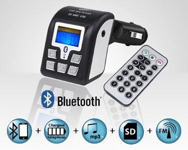 Leitor Bluetooth Carro - Mãos Livres