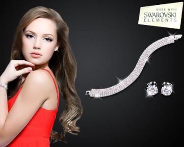 Bracelete e Brincos | Swarovski