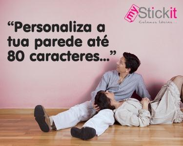 Frase à tua escolha até 80 caracteres - Personaliza a tua parede
