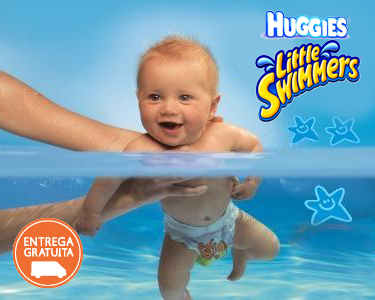 38 ou 40 Fraldas Little Swimmers | Huggies®