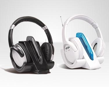 Headphones Sem Fios com Rádio FM