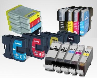 Pack tinteiros compatíveis com Brother, Epson, Canon ou HP