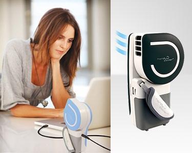 Ar Condicionado Portátil de Mão - USB ou Bateria