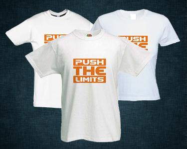 T-Shirt Push The Limits - Homem, Mulher e Criança