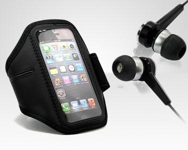 Braçadeira Desportiva para iPhone4/5 ou Samsung S2/S3 + Phones