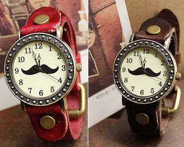 Relógio Mustache Vintage