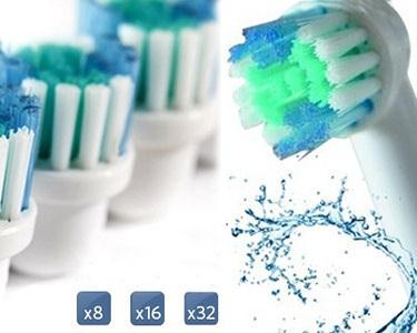 Recargas Compatíveis com Oral-B | 8, 16 ou 32 Unidades