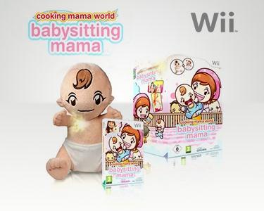 Jogo Wii - Cooking Mama Word: Babysitting + Boneco