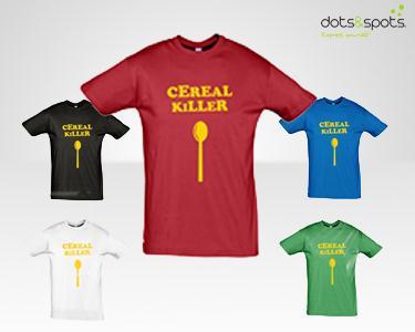 T-Shirt Cereal Killer -  Escolha a sua favorita
