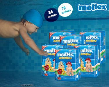 36 ou 72 Fraldas Moltex Aquakids | 7-12KG