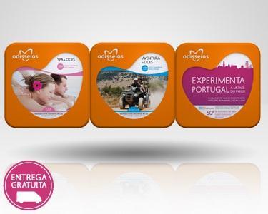 3 Presentes: Spa a 2 + Aventura a 2 + Experimenta Portugal