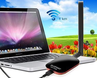 Amplificador de sinal WiFi | Grande Alcance até 1Km