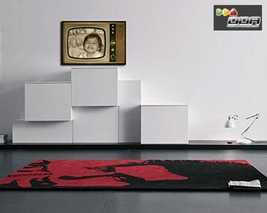 Tv Retro com foto personalizada em vinil autocolante