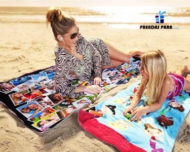 Toalha de Praia Personalizada com as Suas Fotos
