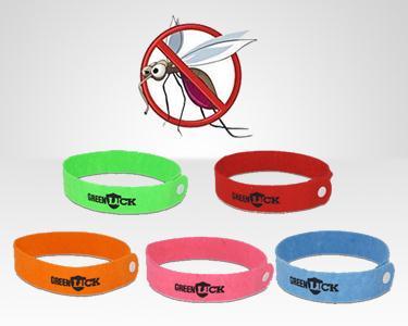 5, 15, ou 30 Pulseiras Anti-Mosquitos GreenLuck