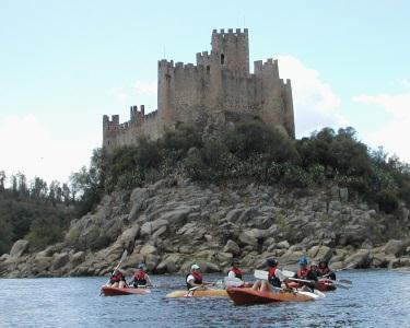 Canoagem no Rio Tejo Constância | Castelo de Almourol