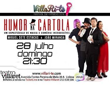Humor na Cartola - Magia & Comédia no Villaret