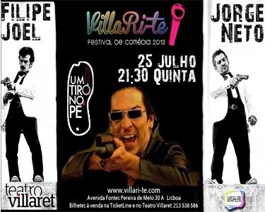 Um Tiro no Pé | Filipe Joel & Jorge Neto no Teatro Villaret