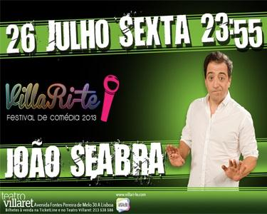 João Seabra no Teatro Villaret