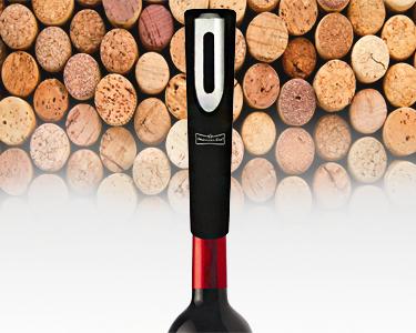 Saca-rolhas automático: abre-te garrafa!