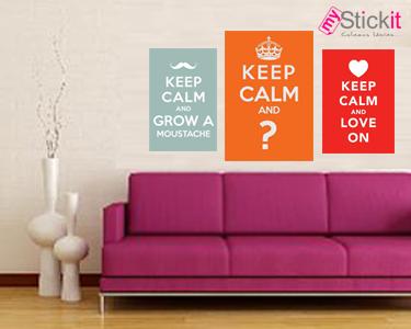 Keep Calm and ... Escolha o Seu Vinil Decorativo!
