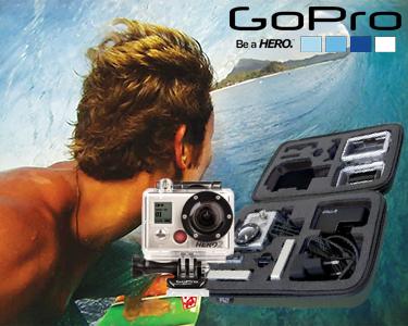 Câmara GoPro HD HERO2 Surf Edition com Bolsa de Transporte