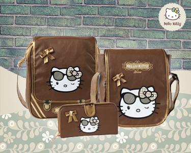A Hello Kitty Diva chegou com malas e carteiras para si