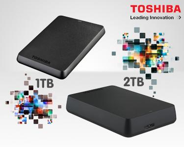 Disco Toshiba 2,5' | 3.0 BASICS Preto - 1TB ou 2TB