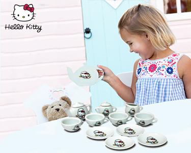 Serviço de Chá Porcelana Hello Kitty