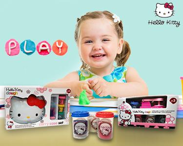 Conjunto de Plasticina & Moldes   Hello Kitty