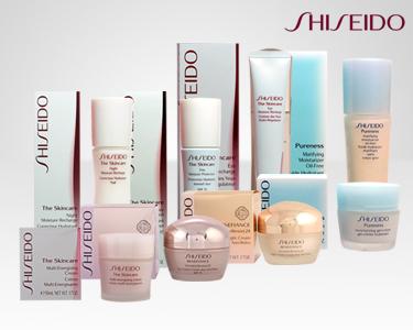 Shiseido® Rosto   Linhas SkinCare, Pureness e Benefiance