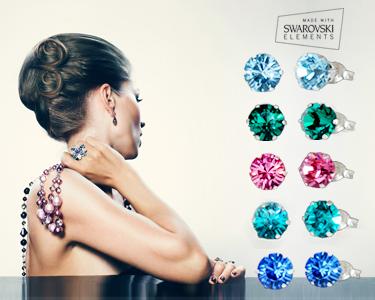 Swarovski Elements® | Brincos de Prata & Cristais