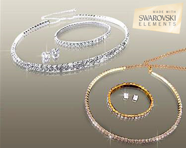 Pulseira, Colar e Brincos Swarovski Elements® | Escolha o Seu