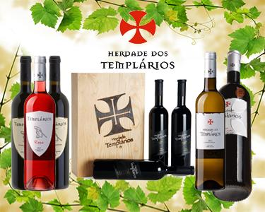 Os melhores Vinhos da Herdade dos Templários   100% Português
