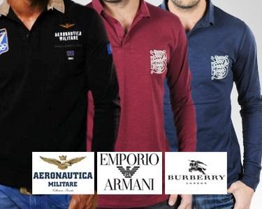 Pólos Aeronautica Militare®, Burberry® e Armani®