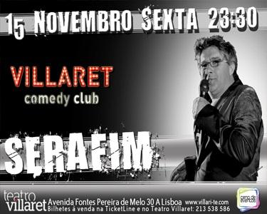 Serafim Ao Vivo | Palco do Café - Teatro Villaret - 15 Nov.