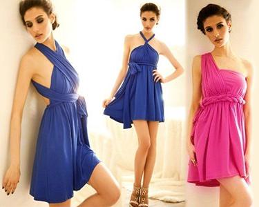 Vestido Convertível Infinity - Azul ou Rosa