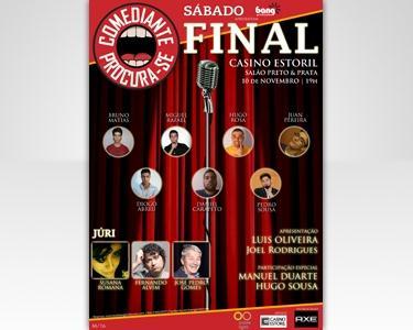 Grande Final 'Comediante Procura-se' no Casino Estoril. Grandes Comediantes e um Júri de Luxo!