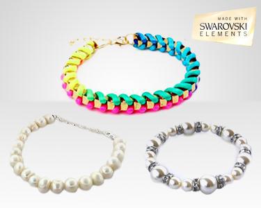 Swarovski Elements® | Pulseiras de Pérolas, Cristais e da Amizade