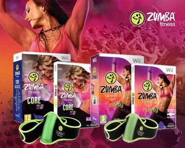Jogo Wii Zumba Fitness ou Zumba Core & Cinto