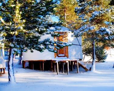 Eco Resort - Vale do Rossim  - Noite em Yurt na Serra da Estrela