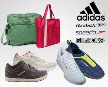 Calçado Reebok, Speedo e Acessórios Billabong e Adidas