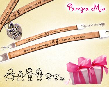 Pulseiras Cabedal Personalizadas | Pampa Mia