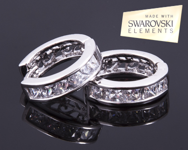 Brincos Cristal Loop | Brilho da Swarovski Elements®