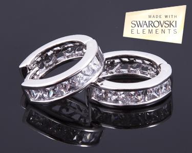 Brincos Cristal Loop   Brilho da Swarovski Elements®