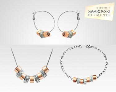 Conjunto Swarovski Elements® | Banhado a Ouro 18K